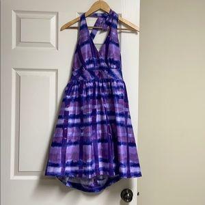 BCX Formal Purple Halter Short Dress